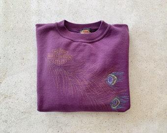 Vintage Sweatshirt | HARLEY DAVIDSON Motorcycles Pullover Top Shirt Sweater 90's Purple | Size S