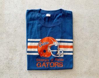 Vintage T-Shirt | GATORS University of Florida Pullover Shirt Football College University Streetwear Blue Orange | Size M