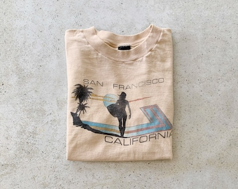 Vintage T-Shirt | SAN FRANCISCO California Beach Surf Coastal 80s Shirt | Size M