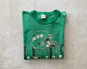Vintage T-Shirt | NY JETS Top Shirt Pullover 80's 90's Football Green | Size L