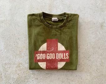 Vintage T-Shirt | GOO GOO DOLLS Alternative Rock Band Tour Concert Top Shirt Pullover Green Red | Size L