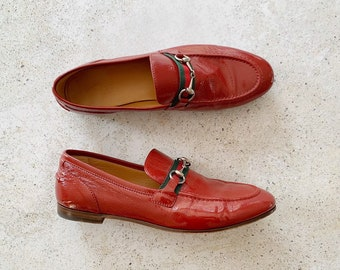 Vintage Shoes | GUCCI Patent Leather Horsebit Loafers | Size 38.5 EU / 8 - 8.5 US
