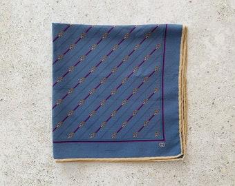 Vintage Scarf | GUCCI Horsebit GG Logo Monogram Silk Scarf Neckerchief Handkerchief 70's 80's