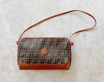 Vintage Bag | FENDI Zucca FF Monogram Shoulder Bag