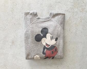 Vintage Sweatshirt | MICKEY MOUSE Disney 70's Sweatshirt Men's Women's Unisex | Size M
