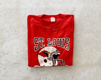 Vintage T-Shirt | ST. LOUIS CARDINALS Football  Pullover Shirt 80's Streetwear Red | Size S