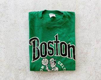 Vintage T-Shirt | BOSTON CELTICS Basketball NBA Shirt Tee Sports Streetwear Green | Size L