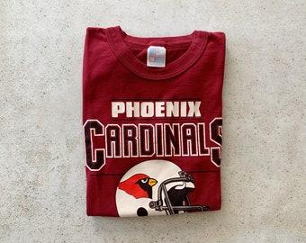 Vintage T-Shirt | PHOENIX CARDINALS Baseball Pullover Shirt 80's Red Maroon | Size M