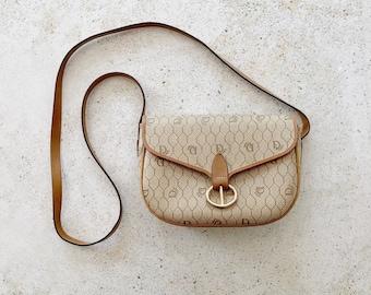 Vintage Bag | DIOR Honeycomb Logo Monogram Flap Shoulder Crossbody Bag