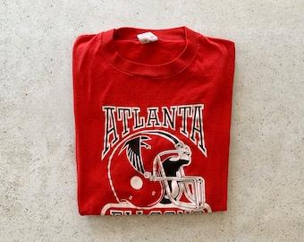 Vintage T-Shirt | ATLANTA FALCONS Football Pullover Shirt 80's 90's Streetwear Red | Size M