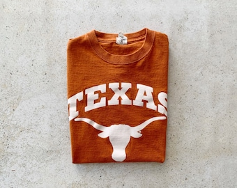 Vintage T-Shirt | TEXAS Pullover Top Shirt College University | Size S