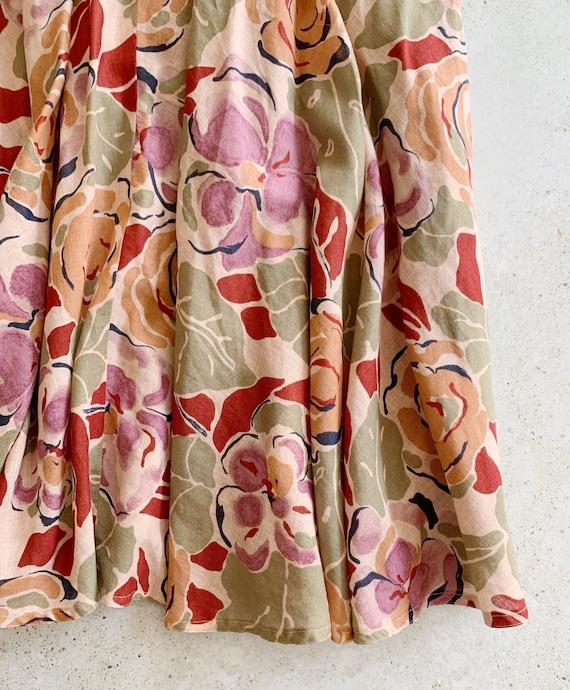 Vintage Skirt | DIOR Floral Midi Garden Skirt Cot… - image 4