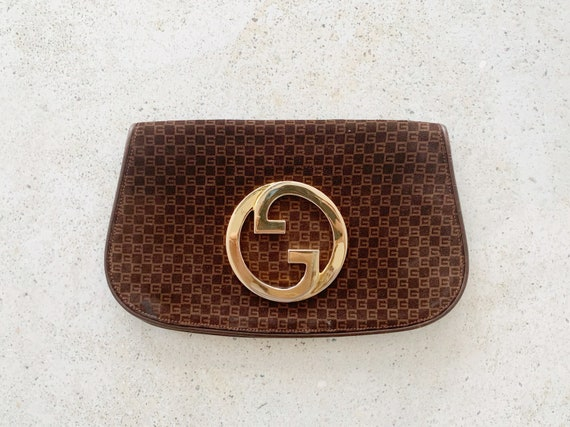 Vintage Bag | GUCCI 70's Blondie Logo Monogram GG