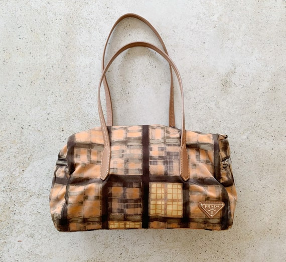 Vintage Bag | PRADA Nylon Printed Graphic Shoulde… - image 1