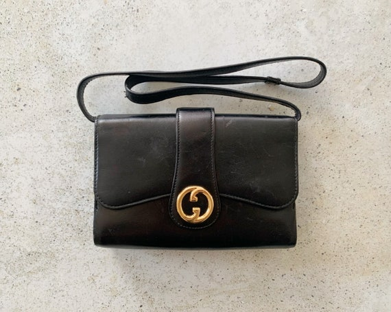 Vintage Bag | GUCCI GG Logo Monogram Leather Desig