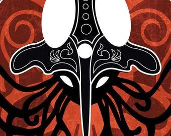 Intricate Squid - Pokemon Tenticruel inspired Illustration