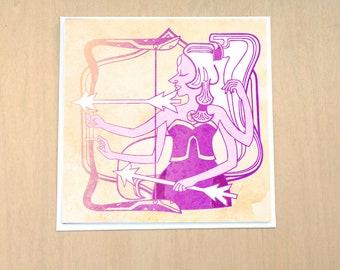 Bright Archer - 5x5 inch blank card