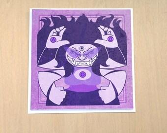 Twilight Juggernaut - 5x5 inch blank card