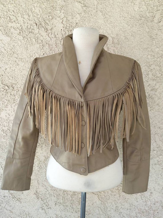 Vintage Fringed leather 1980s jacket