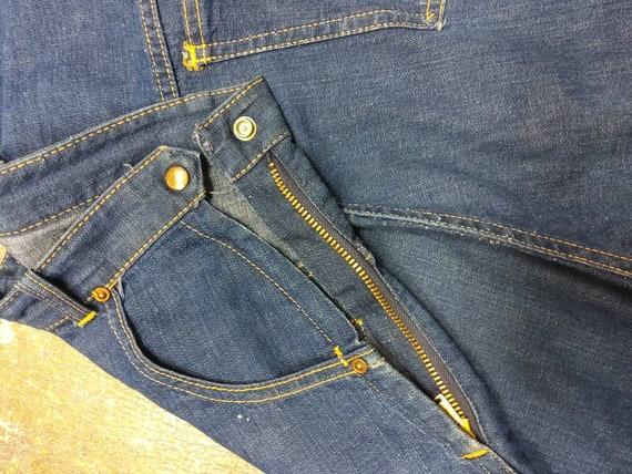 1950s Vintage Side zipper denim Jean's, deep pocke