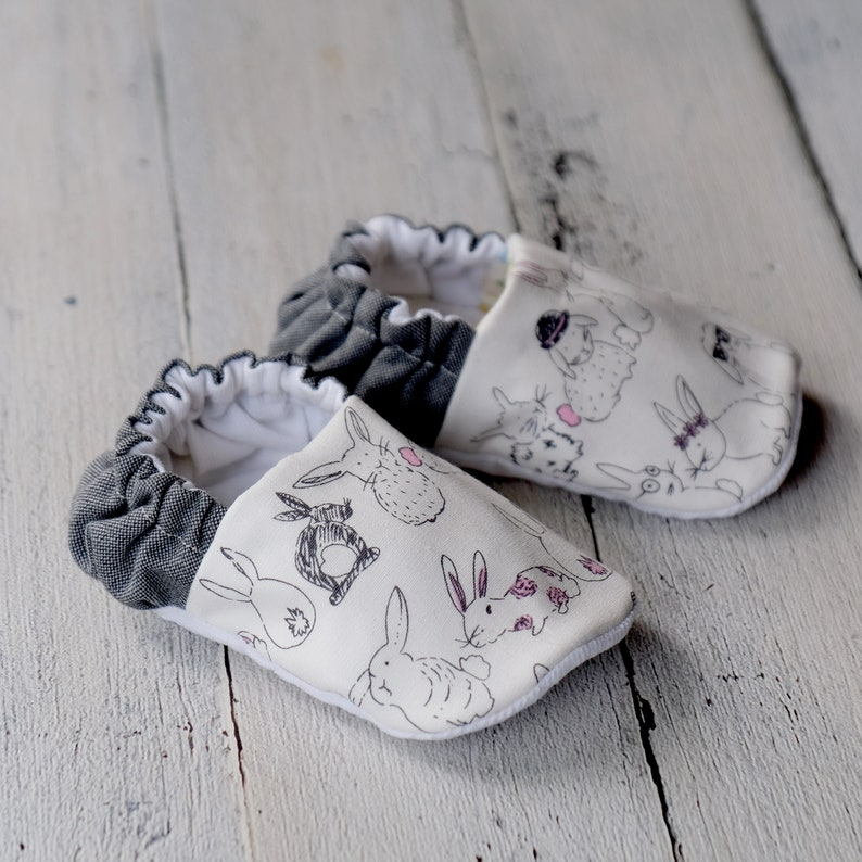 Bunny Wunny Reversible Baby Shoes image 0