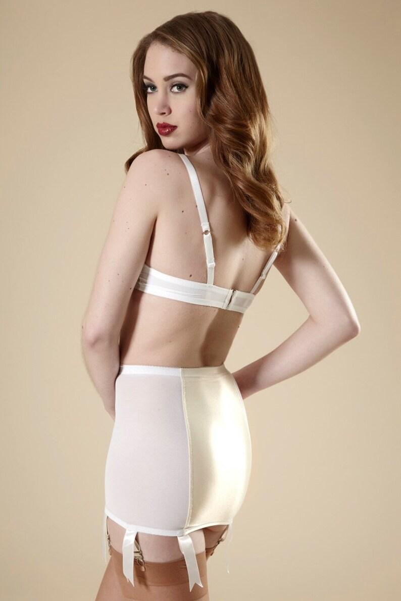 97ba480df Pin-Up Girdle Wedding White Garter Skirt w  Vintage English