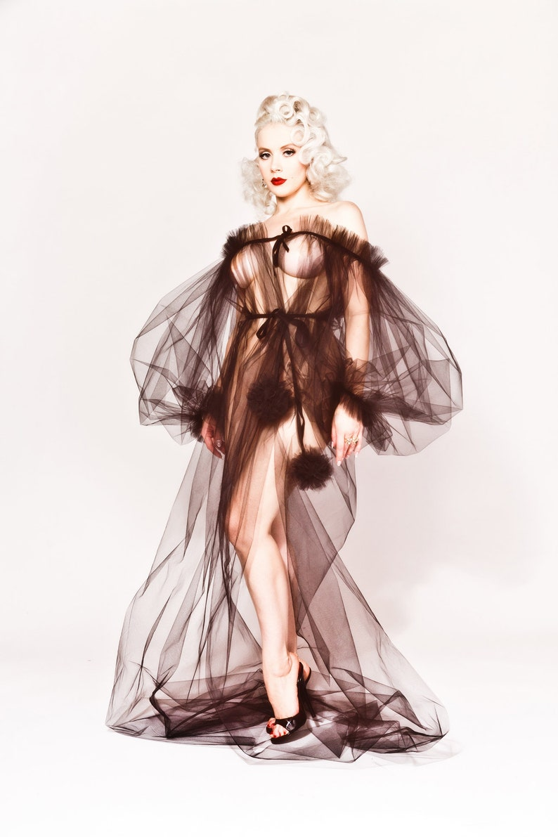 Tulle Long Sleeve Dressing Robe by Mosh  Dottie's image 1