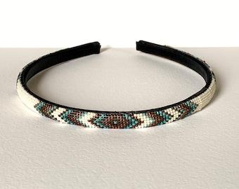 Native American beaded headband for womanchildrenhandmadehandcrafted