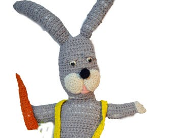 Knit Rabbit Bunny Vintage Easter Bunny