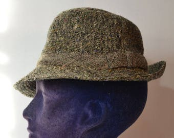 d4426f9c5ce Jaeger Hat Tweed Soft Fedora Hat Size S
