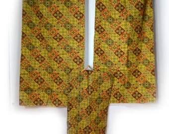 60s Fabric Panels Curtain Panels Unfinished