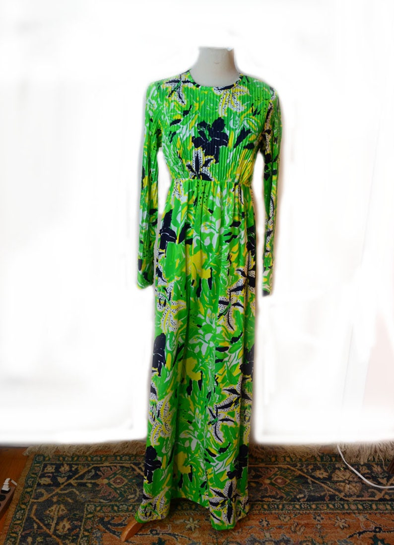 2293bb1ca5a 70s Lilly Pulitzer Dress Spring Maxi Dress Sz XS Sz S