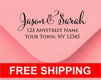Personalized Self Inking Return Address Stamp - self inking address stamp - Custom Rubber Stamp R283