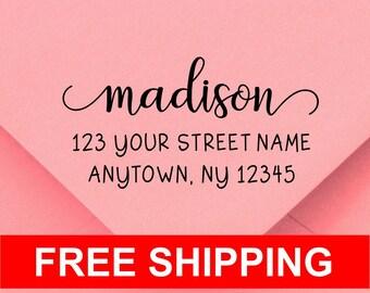 Personalized Self Inking Return Address Stamp - self inking address stamp - Custom Rubber Stamp R289