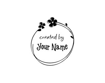 Personalized Custom Made Name Unmounted Rubber Stamps C25