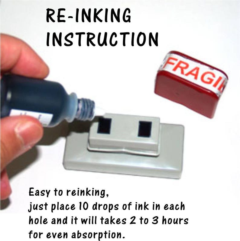 Pre Ink Refill Self Inking Stamp For