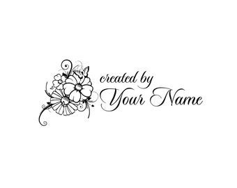 Personalized Custom Made Name Unmounted- handle mounted Rubber Stamps C29