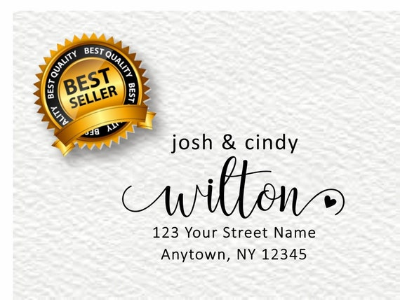 Return Address Stamp, Family Address Stamp, Calligraphy Address Stamp, The future Mr. and Mrs., Self Ink Stamp Christmas Gift R386