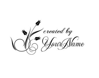 Personalized Custom Made Name Unmounted Rubber Stamps C04