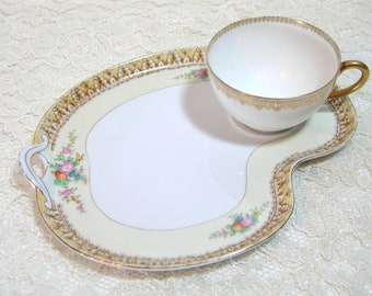 Tiered Server 2 Tier Jewelry Dish Blue Pink Floral China Tidbit Catchall Tray Hostess Housewarming Gift Jewelry Display Stand Gifts Under 25