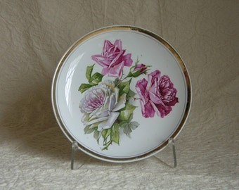 Pink Roses China Plate