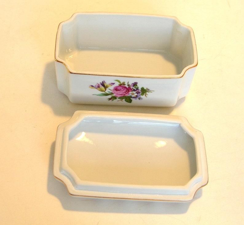 China Trinket Box Floral Design