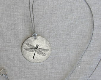 Dragonfly Fossil Pendant - simple jewelry that is thoughtful, poetic and personal