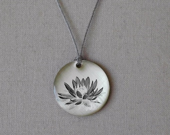 Lotus Flower Pendant - simple jewelry that is thoughtful, poetic and personal