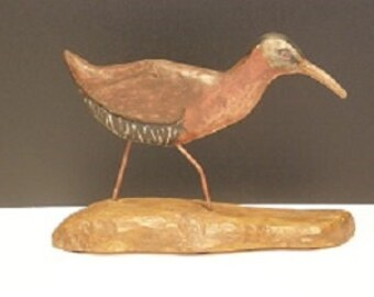 Hard Carved and Hand Painted Bird -Virginia Rai