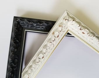 8 X 10 85 X 11 Black And Ivory Traditional Ornate Vintage Etsy
