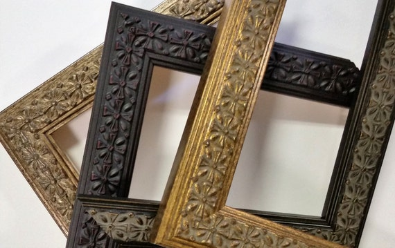 8 X 10 12 X 16 Wood Picture Frames Ornate Vintage Etsy