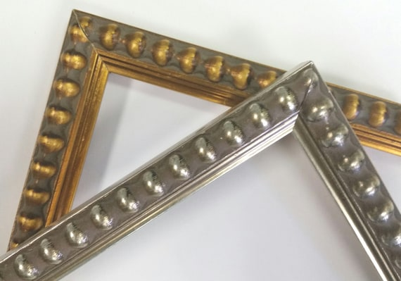 14 x 18 20 x 24 beaded gold warm silver picture frames