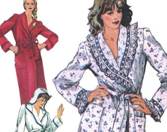 Bathrobes! Vintage ©1982 Simplicity Sewing Pattern 5814 c6f667c8d