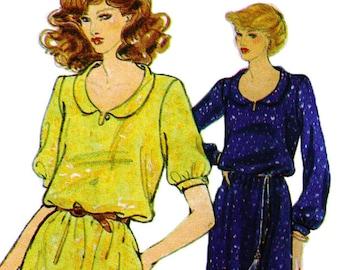 DVF Maxi Dress! Vintage '70s Very Easy Vogue American Designer Original by Diane von Furstenberg Sewing Pattern 2065, Misses' Dress, Size 8